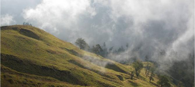 Hike naar de Rinjani vulkaan in Indonesië
